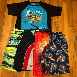 Other - Size 8 boys swim trunk and rash guard